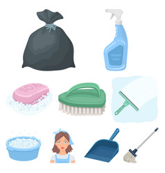 cleaning washing and everything connected with it vector image