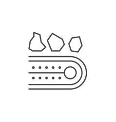 Conveyor belt line outline icon vector