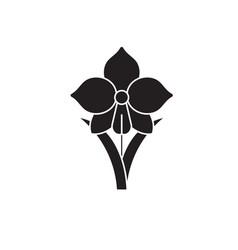 daffodil black concept icon daffodil flat vector image