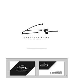 E s es initial logo signature handwriting vector