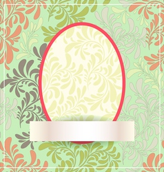 easter egg made flowers eps10 vector image