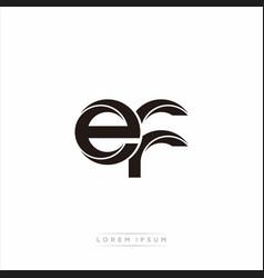 Ef initial letter split lowercase modern monogram vector