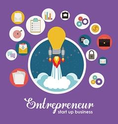Entrepreneur design vector image