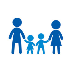 family flat icon sign family logo vector image