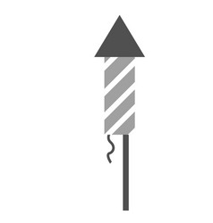 Firework stick flat on white vector