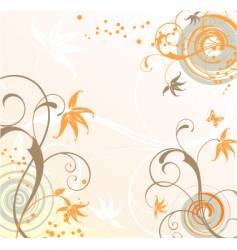 floral background tropical vector image
