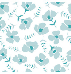 floral pattern in the small flower vector image
