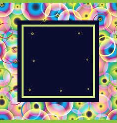 Frame circles vector