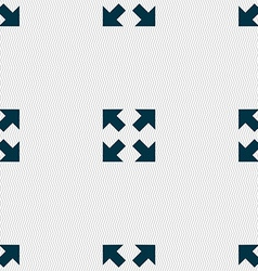 Full screen icon sign Seamless pattern with vector