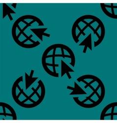 Globe web icon flat design seamless pattern vector