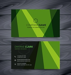 green business card design template vector image