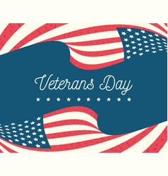 happy veterans day waving flags us forces vector image