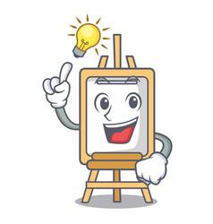 have an idea easel mascot cartoon style vector image