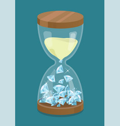 Hourglass with diamonds time is money vector