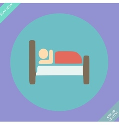 Icon Button Pictogram with Hotel Lodging symbol vector