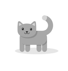 icon of a cat isolated on white vector image