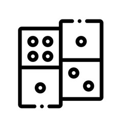 interactive kids game dominoes sign icon vector image