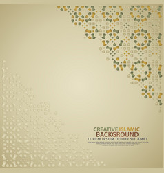 Islamic design greeting card background template vector