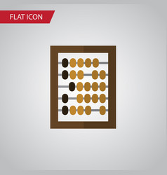 isolated abacus flat icon counter element vector image