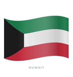 Kuwait waving flag icon vector