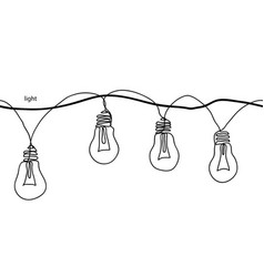 lamps light bulbsfestoon garland glowing light vector image