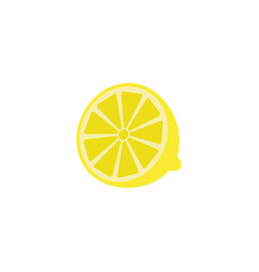 Lemon solid line icon healthy fruit vector