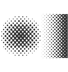 Linear and radial gradient halftones vector