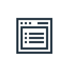 Listing icon listing editable stroke listing vector