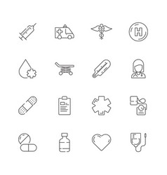 medical icon urgency healthcare emergency capsule vector image