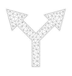 Mesh bifurcation arrow up icon vector