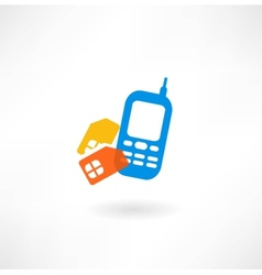 Mobile and simkarty icon vector image