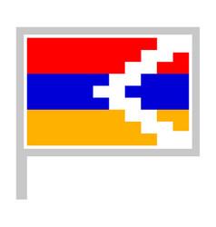Nagorno karabakh republic flag on flagpole icon vector