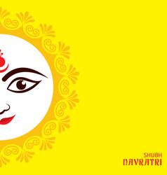 Navratri and garba utsav greeting card vector