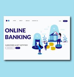 online banking- online banking vector image