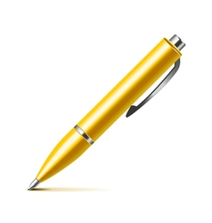 Pen isolated on white vector image