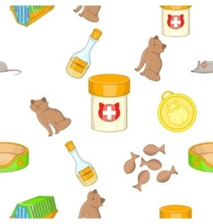 Pet pattern cartoon style vector