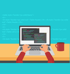 Programming coding and web development vector