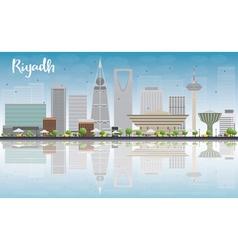 Riyadh skyline with grey buildings vector