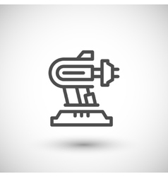 Robotic machine part line icon vector