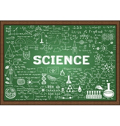 Science on chalkboard vector