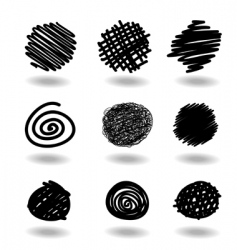 scribble icons vector image