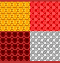 Seamless abstract circle pattern background sets vector