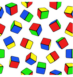 seamless color cubes vector image