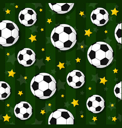 seamless pattern on the football theme vector image