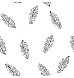 seamless pattern with leaves floral vector image