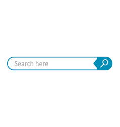 Search bar field interface element with search vector