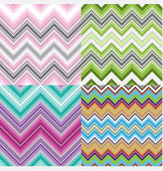 set abstract striped seamless patterns vector image