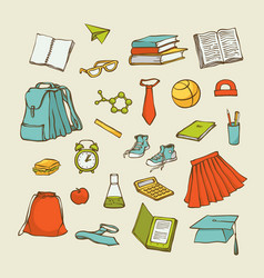 set back to school elements clothes vector image
