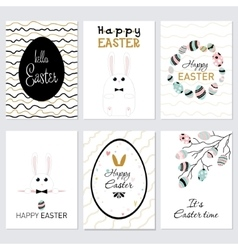 Set cards Happy Easter vector
