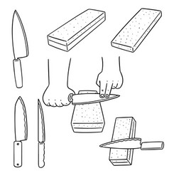 set of whetstone vector image